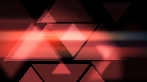 Glowy presentational Triangles smooth modern background.