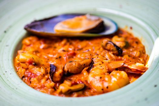 Risotto with sea food