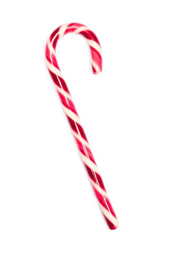 Red and white christmas candy cane