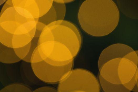 Blurry yellow christmas light circles