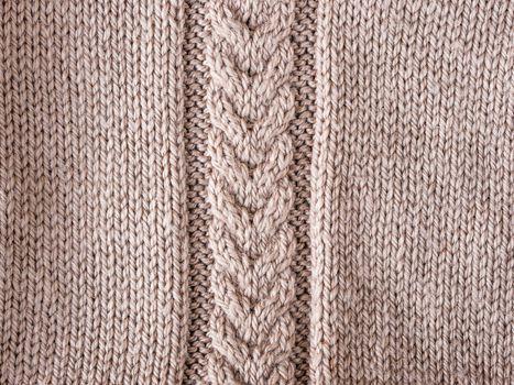 braid on knit sweater