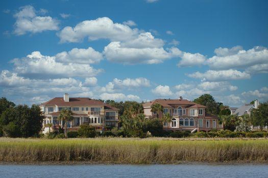 Luxury Homes Beyond Coastal Salt Marsh