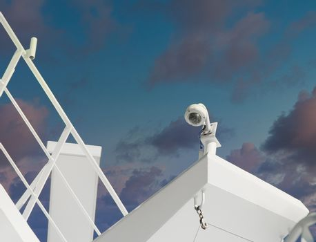 Security Camera on Ship Bulkhead