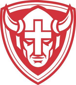 Christian Viking Shield Mascot