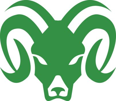 Icon retro style illustration of head of a bighorn sheep or ram, a species of sheep native to North America on isolated background.