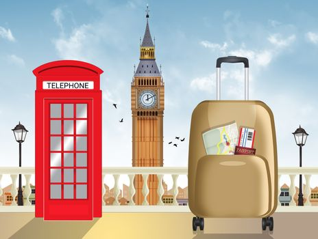 illustration of travel to London