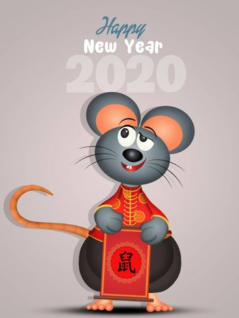 illustration of Chinese new year for rat