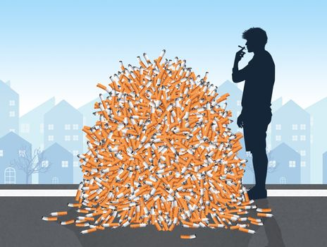 disposal of cigarette butts