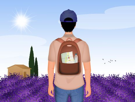 tourist in Provence