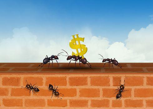 illustration of concept of teamwork