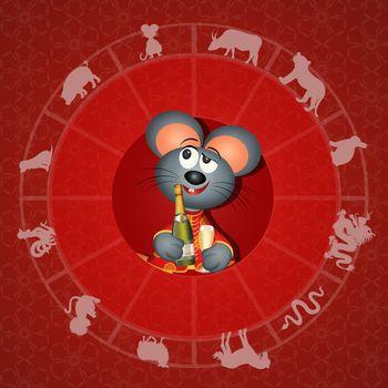 illustration of Chinese horoscope