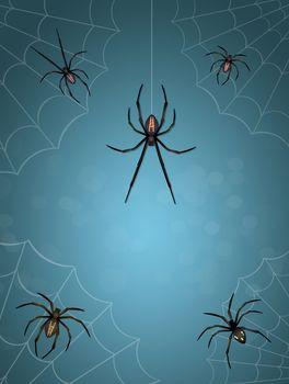 illustration of spiders