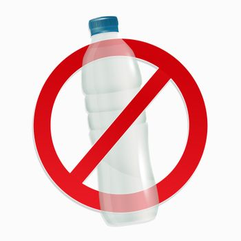 illustration of stop plastic pollution