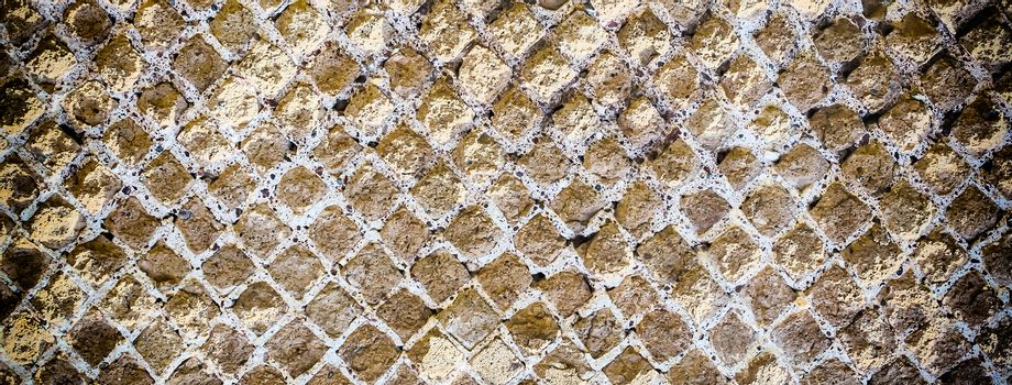 Stone Brick Wall Texture with Vignette Effect and copy space, may use as background