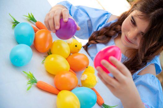 Happy child celebrating Easter