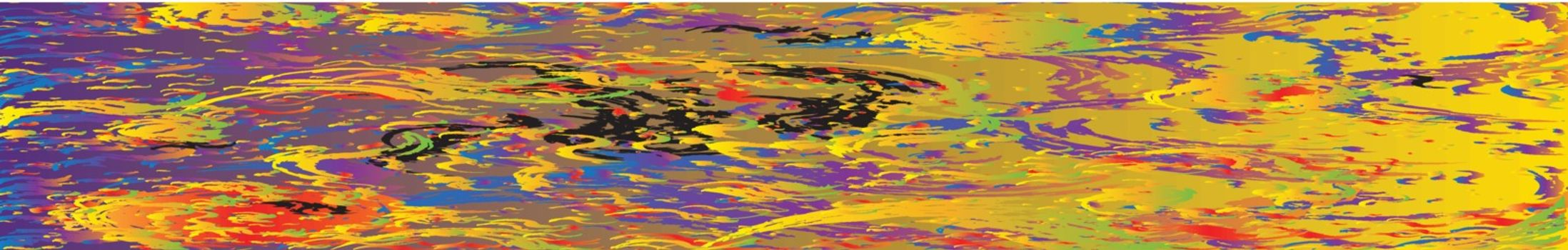 An abstract petrol rainbow twirl website banner background