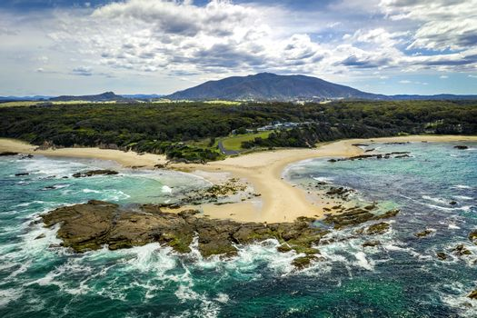 Mystery Bay and Mount Gulaga in the distance