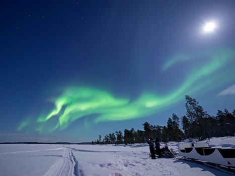 Aurora Borealis over Lake Inari
