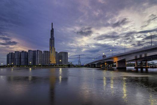 Landmark 81 is a super-tall skyscraper in Ho Chi Minh City, Vietnam
