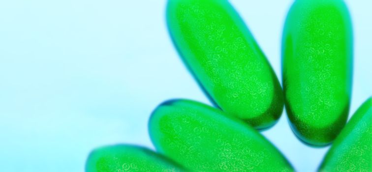 covid-19 virus and green pills for a possible cure