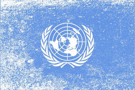 United Nations Flag Grunge