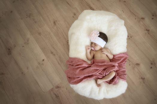 Baby sleeping in peace