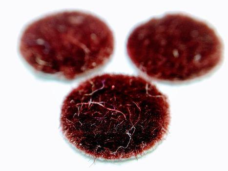 Close up on red bindi