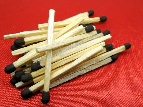 A picture of matchsticks