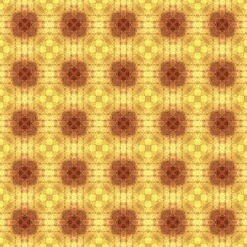 Drawing of Fractal seamless pattern in yellow colors