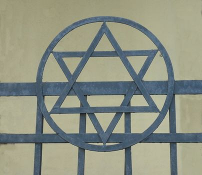 Star Jew, or star of David who is the main Symbol of the Jewish Religion. Symbol of peace.