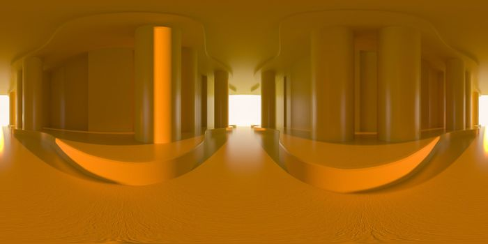 3d illustration, 3d rendering, vr 360 panorama abstract images of the geometry background