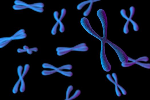 3d rendering of Chromosome Abstract Scientific Background, 3d illustration.