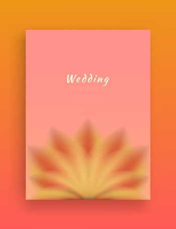 Minimalist Invitation card design with decorative elements of flower petals and soft colors.