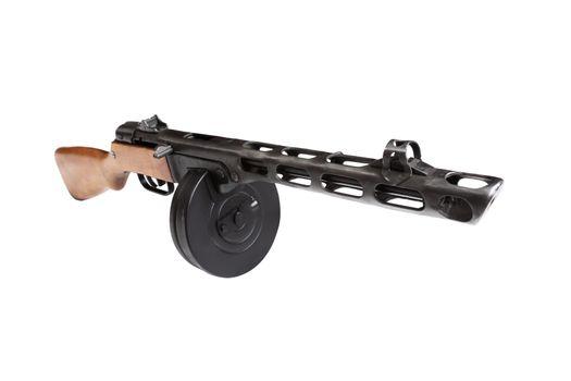 isolated submachine gun