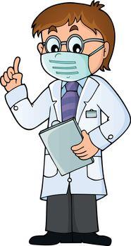 Doctor theme image 8 - eps10 vector illustration.