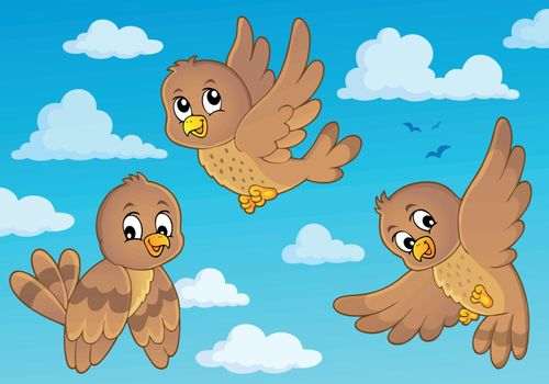 Happy birds theme image 3 - eps10 vector illustration.
