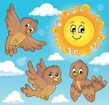 Happy birds theme image 5 - eps10 vector illustration.