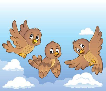 Happy birds theme image 4 - eps10 vector illustration.