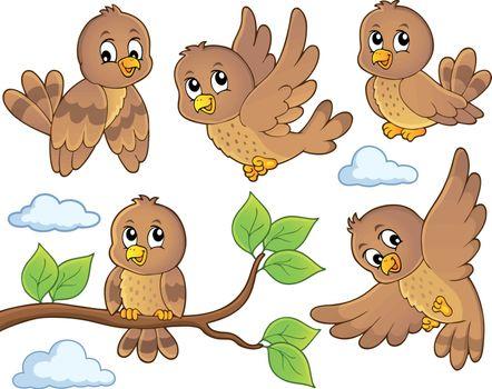 Happy birds theme image 2 - eps10 vector illustration.