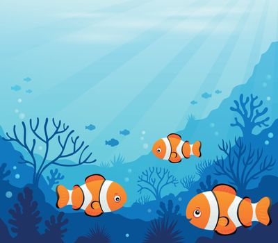 Ocean underwater theme background 7 - eps10 vector illustration.