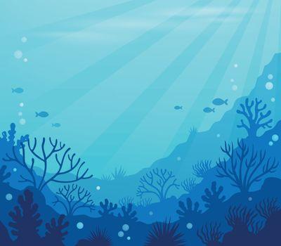 Ocean underwater theme background 8 - eps10 vector illustration.