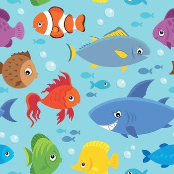 Seamless background stylized fishes 5 - eps10 vector illustration.