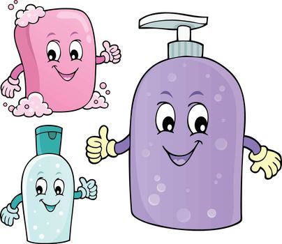 Soap and hygiene theme image 1 - eps10 vector illustration.