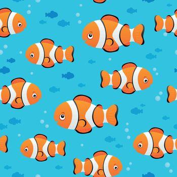 Seamless background stylized fishes 7 - eps10 vector illustration.
