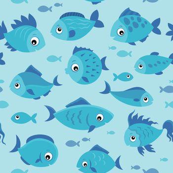 Seamless background stylized fishes 4 - eps10 vector illustration.