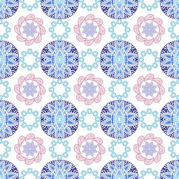 Hand drawn Geometric abstract seamless pattern. Trendi bright Ethnic decorative background.