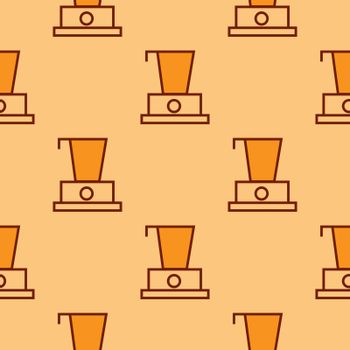 Blender pattern - repeat seamless in orange color for any design