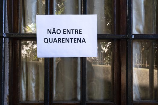 No entry in  Portuguese  language sign