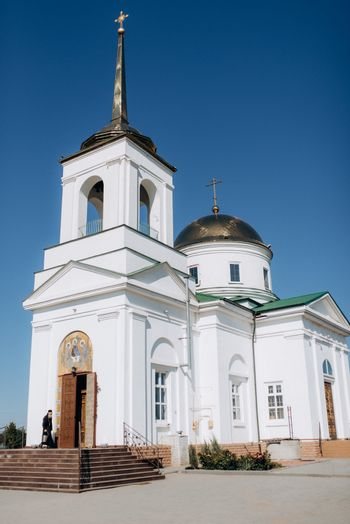 cathedral of the orthodox church with icons and altar