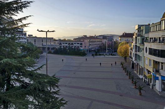View from the spacious center of town Kazanlak, Bulgaria, Europe